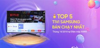 Top 5 Tivi Samsung bán chạy nhất tháng 10/2018 tại Điện máy XANH