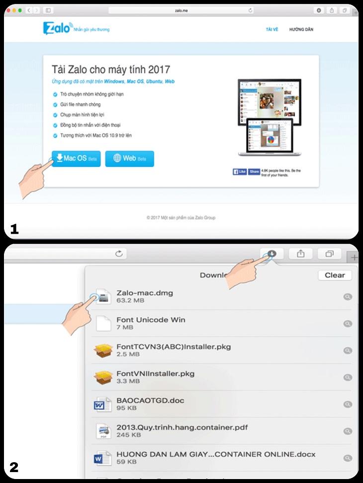 4 bước cài đặt Zalo cho Macbook