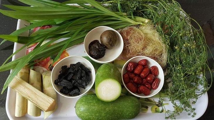 Nguyên liệu món ăn cách làm nước sâm tiên thảo