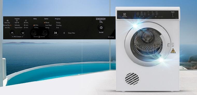 Hướng dẫn sử dụng máy sấy quần áo Electrolux dòng EDS & EDV
