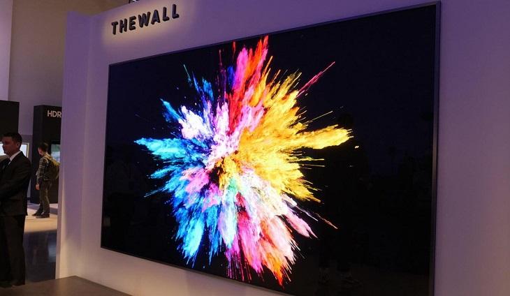 Chiếc tivi được Samsung sử dụng công nghệ MicroLED với kích thước 146 inch ra mắt tại CES 2018