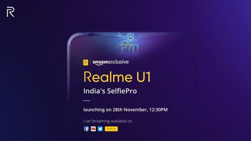 Realme U1 sẽ ra mắt tại Ấn Độ vào ngày 28/11
