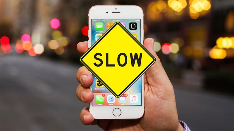 iPhone bị làm chậm