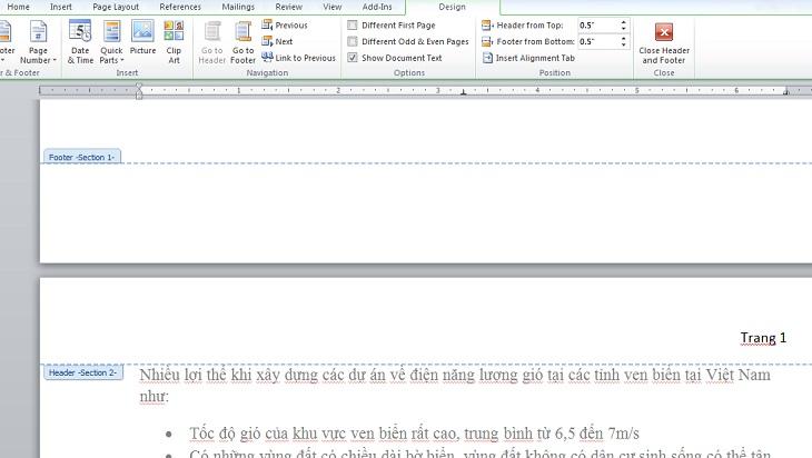 Cách đánh số từ trang bất kì trong word 2013