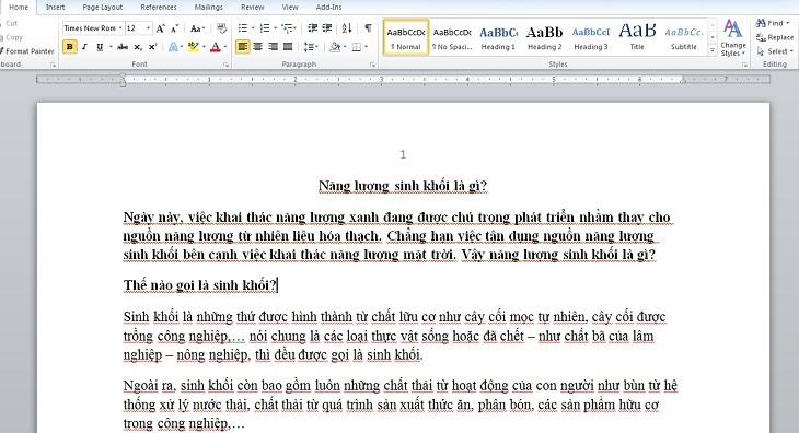 hoàn thành việc đánh trang trong word từ đầu trang