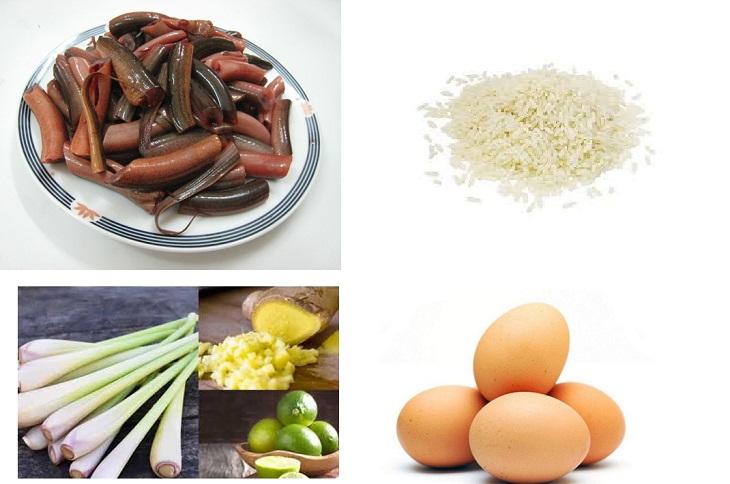 nguyên liệu nấu cháo lươn chuẩn xứ Nghệ An