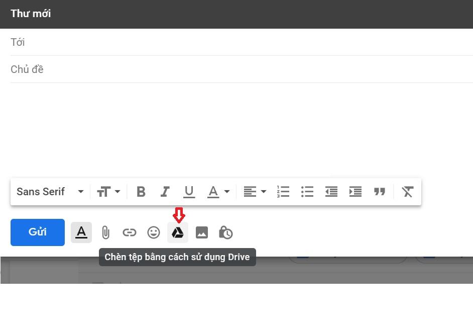 Gửi trực tiếp tệp thông qua gmail