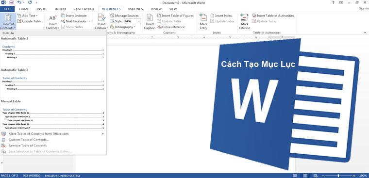 Cách tạo mục lục trong Word 2007, 2010, 2013, 2016 đơn giản