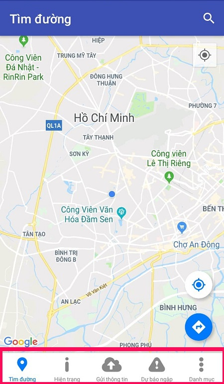 Mở ứng dụng UDI Maps để sử dụng