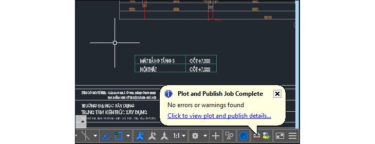 Chuyển CAD sang PDF bằng chức năng xuất File + Bước 3