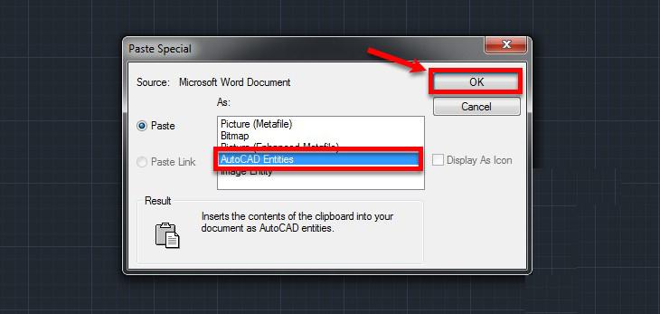 Chuyển hình ảnh từ Word ngược về AutoCAD
