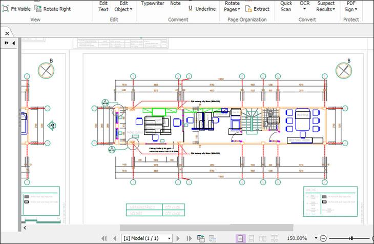 Chuyển CAD sang PDF bằng chức năng in File + Bước 3