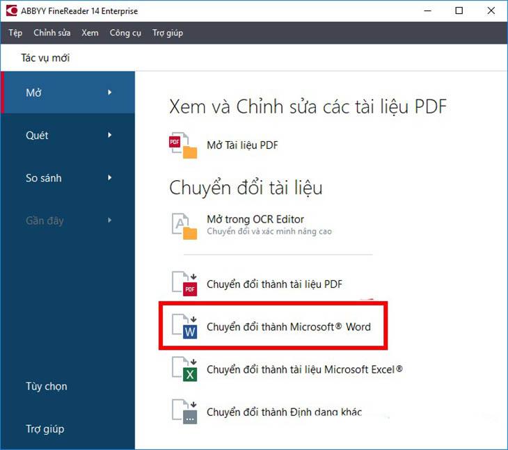 Cách sử dụng phần mềm ABBYY FineReader chuyển file scan - Bước 2