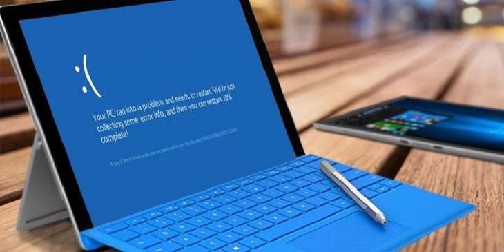 Xuất hiện màn hình xanh cần reboot