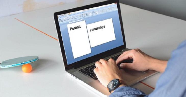 Cách xoay ngang một trang giấy trong word