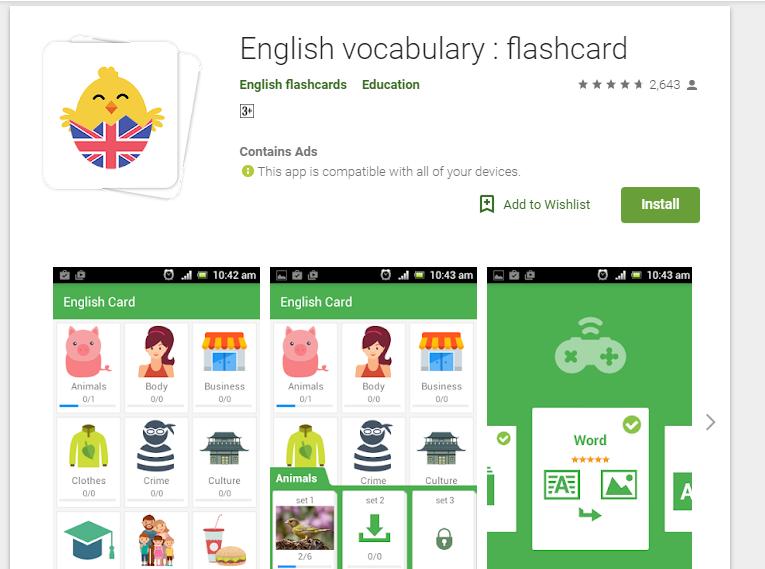Ứng dụng học tiếng Anh cho trẻ