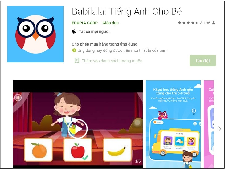 Babilala: Tiếng Anh Cho Bé