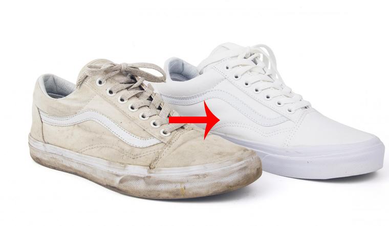 Cách giặt giày trắng không bao giờ bị ố vàng