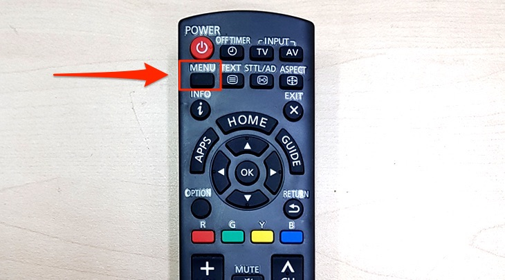 Remote điều khiển của tivi Panasonic