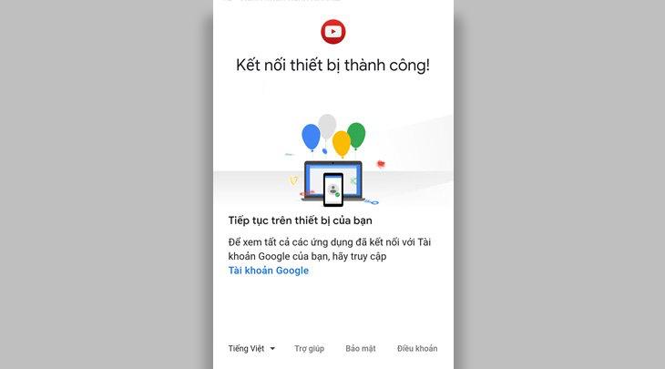 Đăng nhập tài khoản Youtube lên tivi Sharp