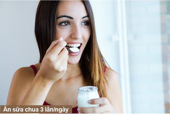 Ăn sữa chua 3 lần mỗi ngày