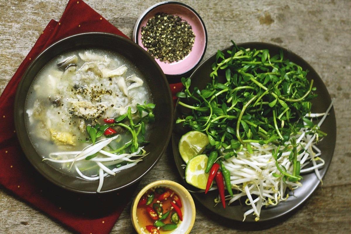 Cách nấu cháo cá lóc nấu bằng nồi cơm điện
