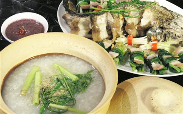Cháo cá lóc nấu ám