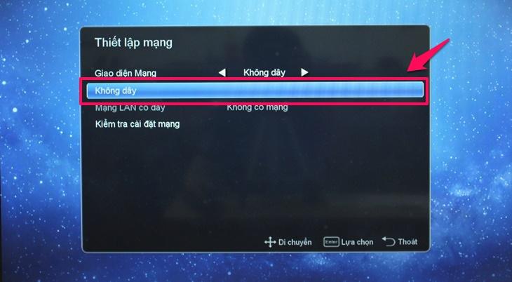 Cách kết nối mạng trên Smart tivi Mobell 2018 2