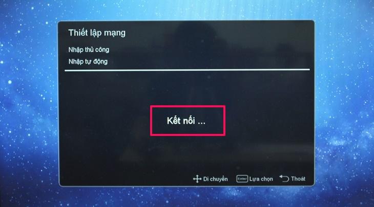 Cách kết nối mạng trên Smart tivi Mobell 2018 7