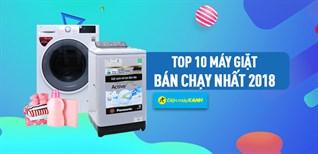 Top 10 máy giặt bán chạy nhất Điện máy XANH năm 2018