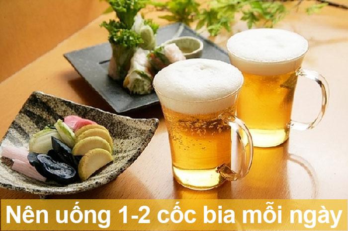 Mỗi ngày uống 1-2 cốc bia là tốt cho sức khoẻ