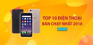 Top 10 điện thoại bán chạy nhất Điện máy XANH năm 2018