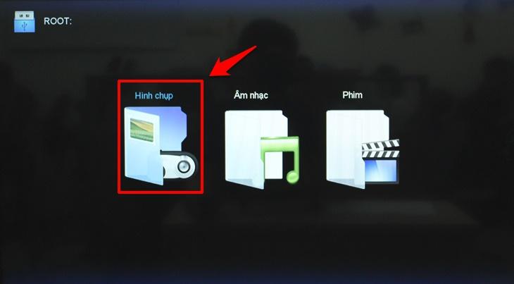 Cách xem phim, nhạc, ảnh trong USB trên Smart tivi Mobell 2018