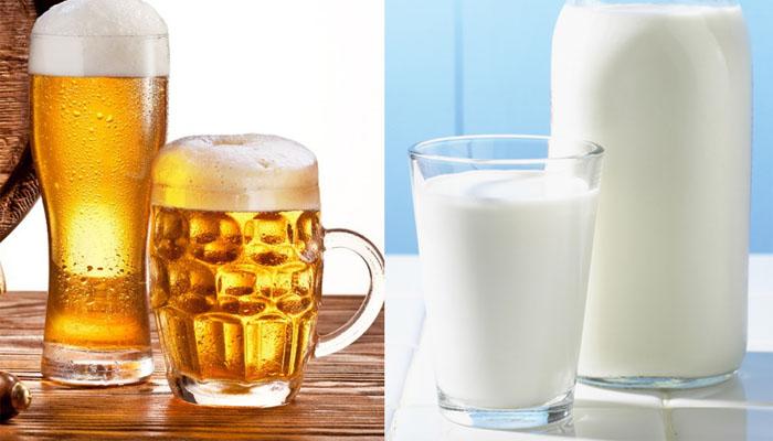 Kết quả hình ảnh cho bia và sữa tươi