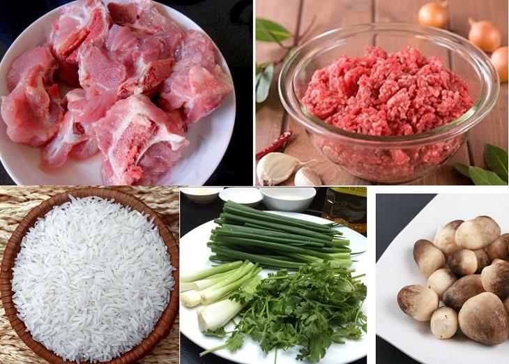 Nguyên liệu món ăn cháo xương