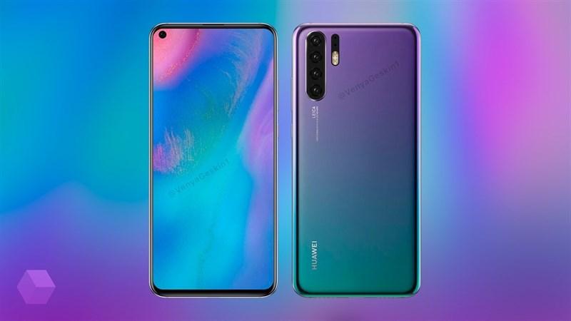 """Huawei P30 sẽ trang bị màn hình """"nốt ruồi"""", 4 camera mặt sau"""