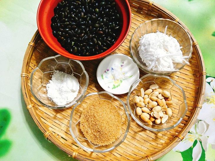 nguyên liệu chè đậu đen nước cốt dừa