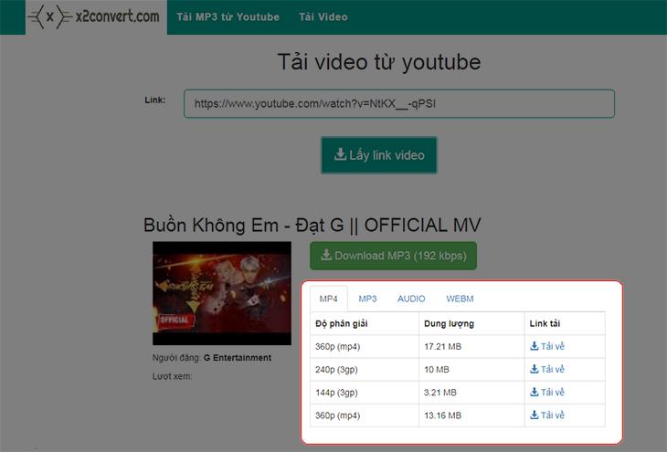 Chọn tải ngay để hoàn tất quá trình tải video từ Youtube