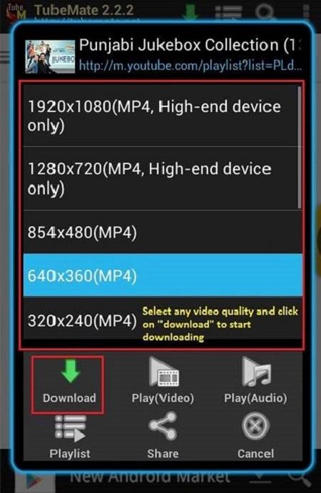 Chọn biểu tượng Download để tải video bạn muốn tải về