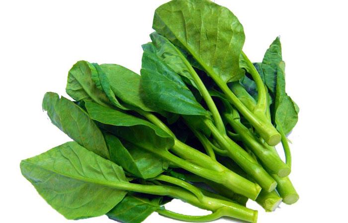 Ho hạn chế ăn các loại rau có nhiều chất nhày