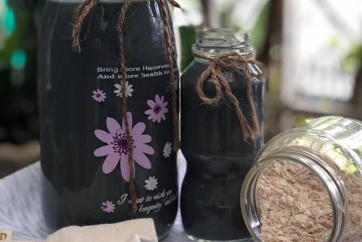 Bước 4 Thành phẩm Sữa yến mạch mè đen