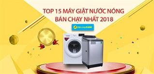 Top 5 máy giặt nước nóng bán chạy nhất Điện máy XANH năm 2018