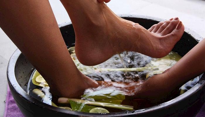 Ngâm tay chân với lá lốt giúp trị mồ hôi trộm