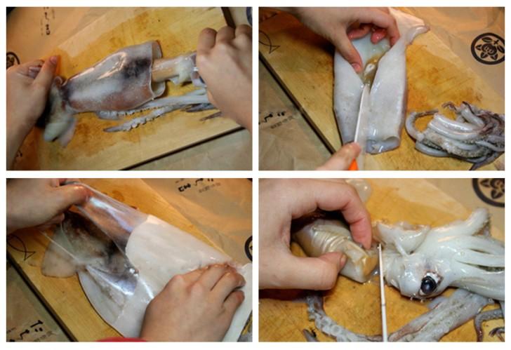 Bước 1 Sơ chế nguyên liệu Nướng mực bằng lò vi sóng