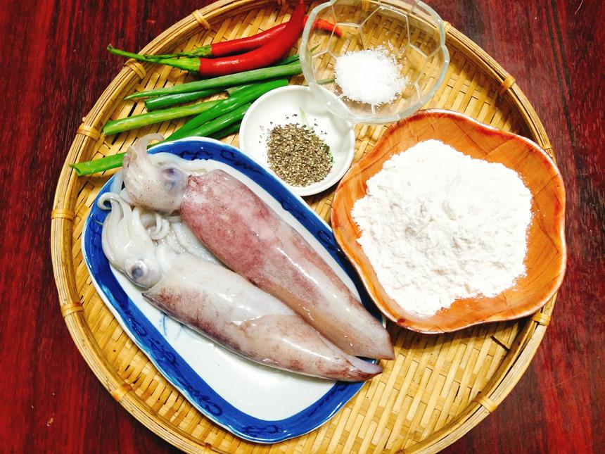 Nguyên liệu món ăn cách nướng mực bằng lò vi sóng