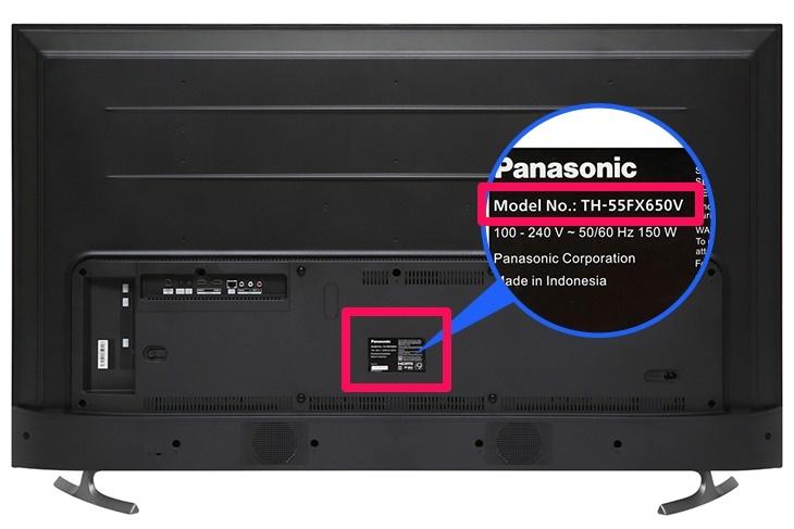 Cách xác định tên tivi Panasonic nhanh chóng