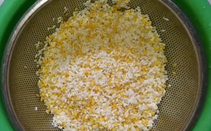 vo gạo và đậu