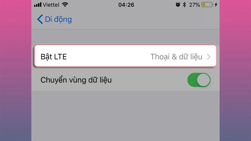 lỗi kết nối mạng iOS 12