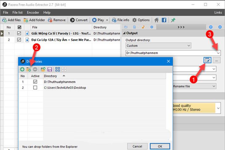 Phần mềm Pazera Free Audio Extractor - Bước 3