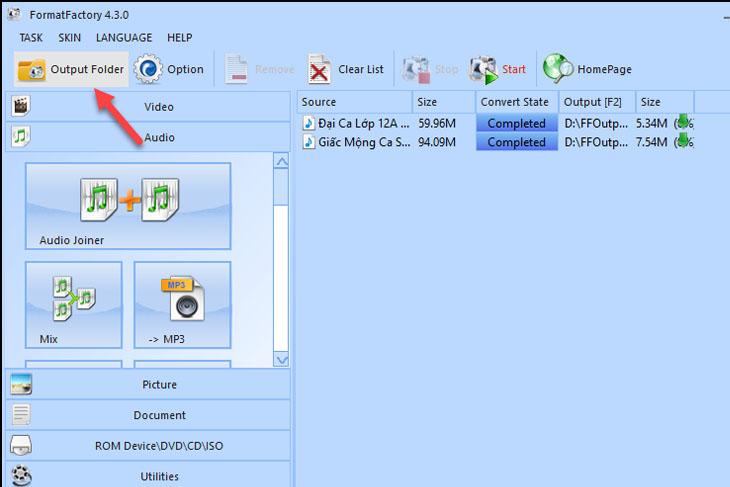 Phần mềm Format Factory - Bước 4